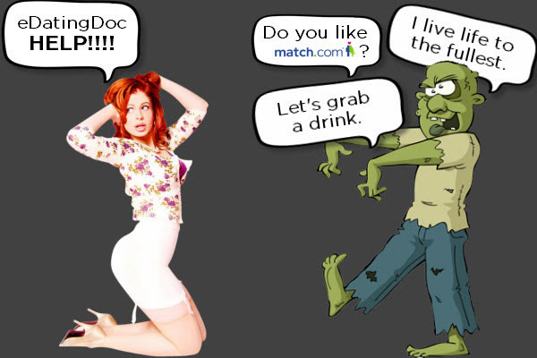 Hot girl dating online chased by zombie