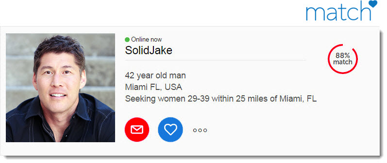 Example of a good male online dating profile